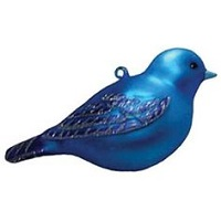 Hand Blown Glass Indigo Ornament