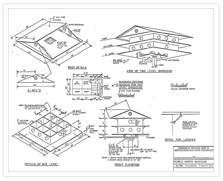 Purple Martin House Plans