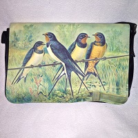 Barn Swallow Satin Shoulder Bag