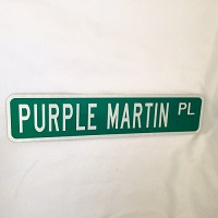 Purple Martin Street Sign