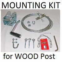 T14 Mounting Kit for Wood Post