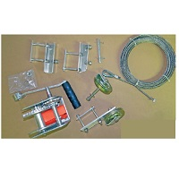 Pulley to Winch Conversion Kit for Deluxe Racks