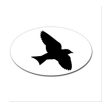 Martin Silhouette Oval Sticker