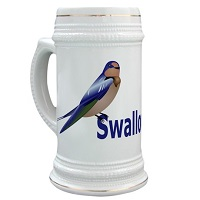 22 oz Barn Swallow Stein