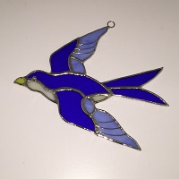 Swallow Stained Glass Suncatcher