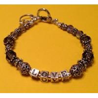 Swarovski Crystal and Silver LOVE Bracelet