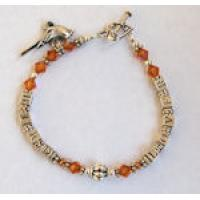 Swarovski Crystal and Silver Bird Lover Bracelet