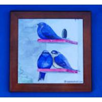 Purple Martin Large Framed Tile