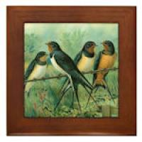 Barn Swallow 6 inch Framed Tile